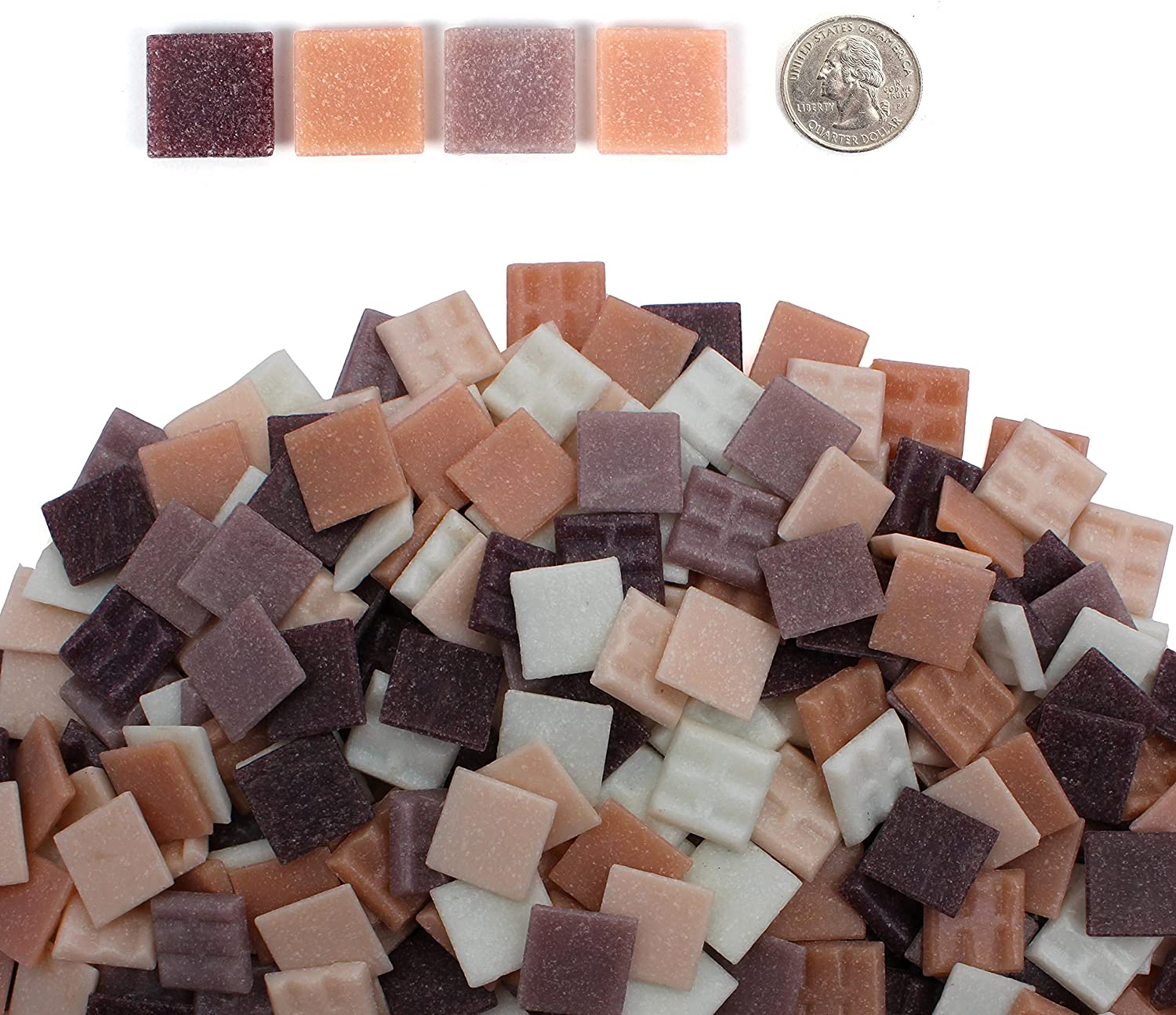 1 Pound Mixed Colors Venetian Glass Tile 3//4 Inch Craft and Backsplash Tile 20mm Milltown Merchants Black and Tan Mosaic Tiles 16 oz Bulk Mosaic Tile Assortment