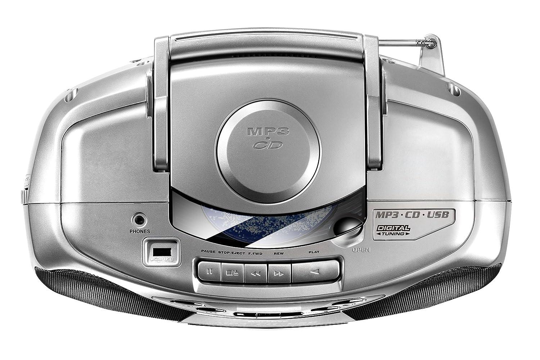 mit CD Player, UKW Radio, Kassettenspieler, MP3 Player /über CD oder USB Boombox Karcher CD Radio RR 510N-W
