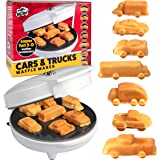 Car Mini Waffle Maker - Make 7 Fun, Different Race Cars, Trucks, and Automobile Vehicle Shaped Pancakes - Electric Non…