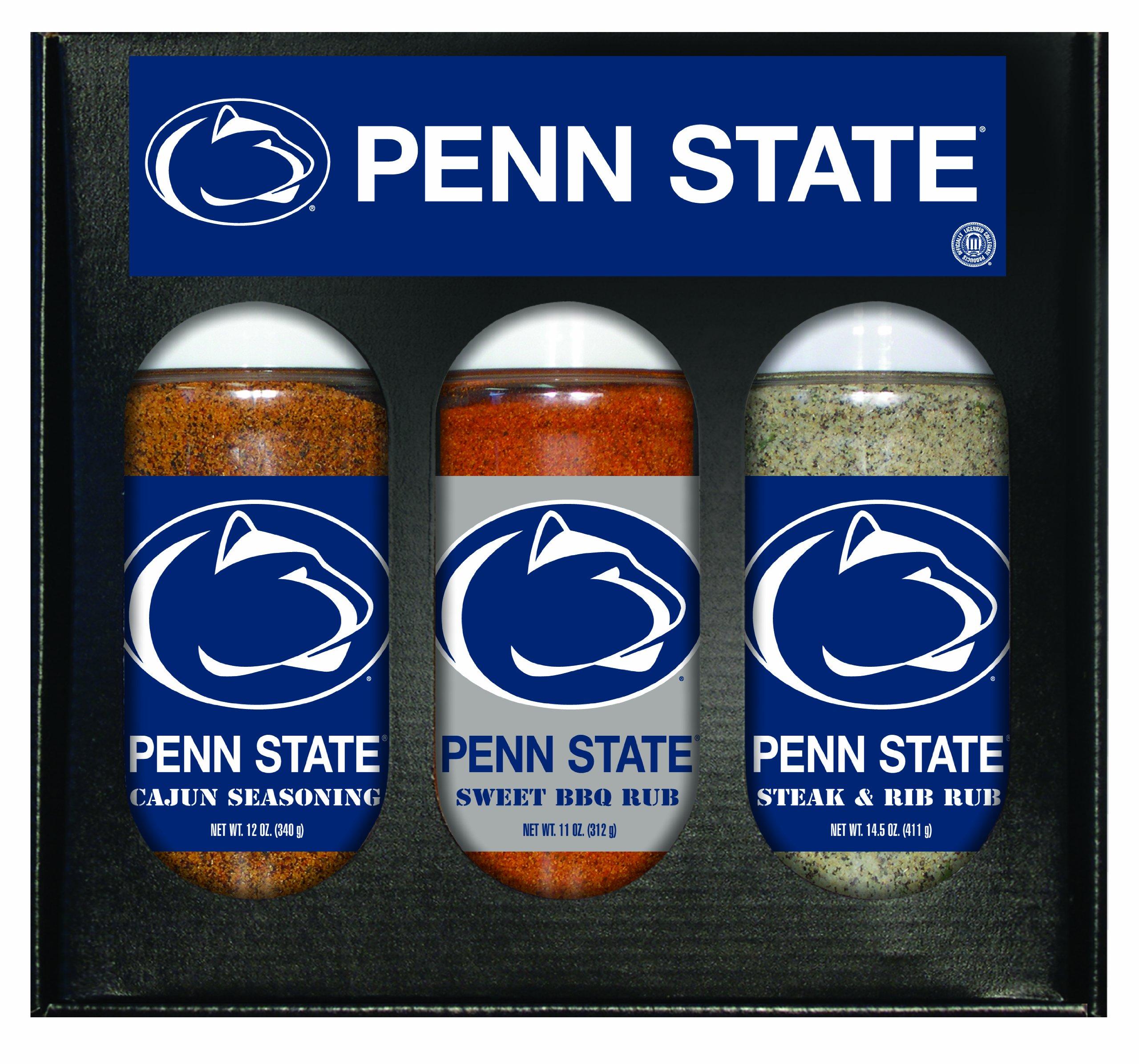 8 Pack PENN STATE Nittany Lions Boxed Set of 3 (Cajun Seas,Stk/Rib Rub, BBQ Rub)