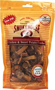 Smokehouse 100-Percent Natural Chicken And Sweet Potato Combo Dog Treats, 8-Ounce