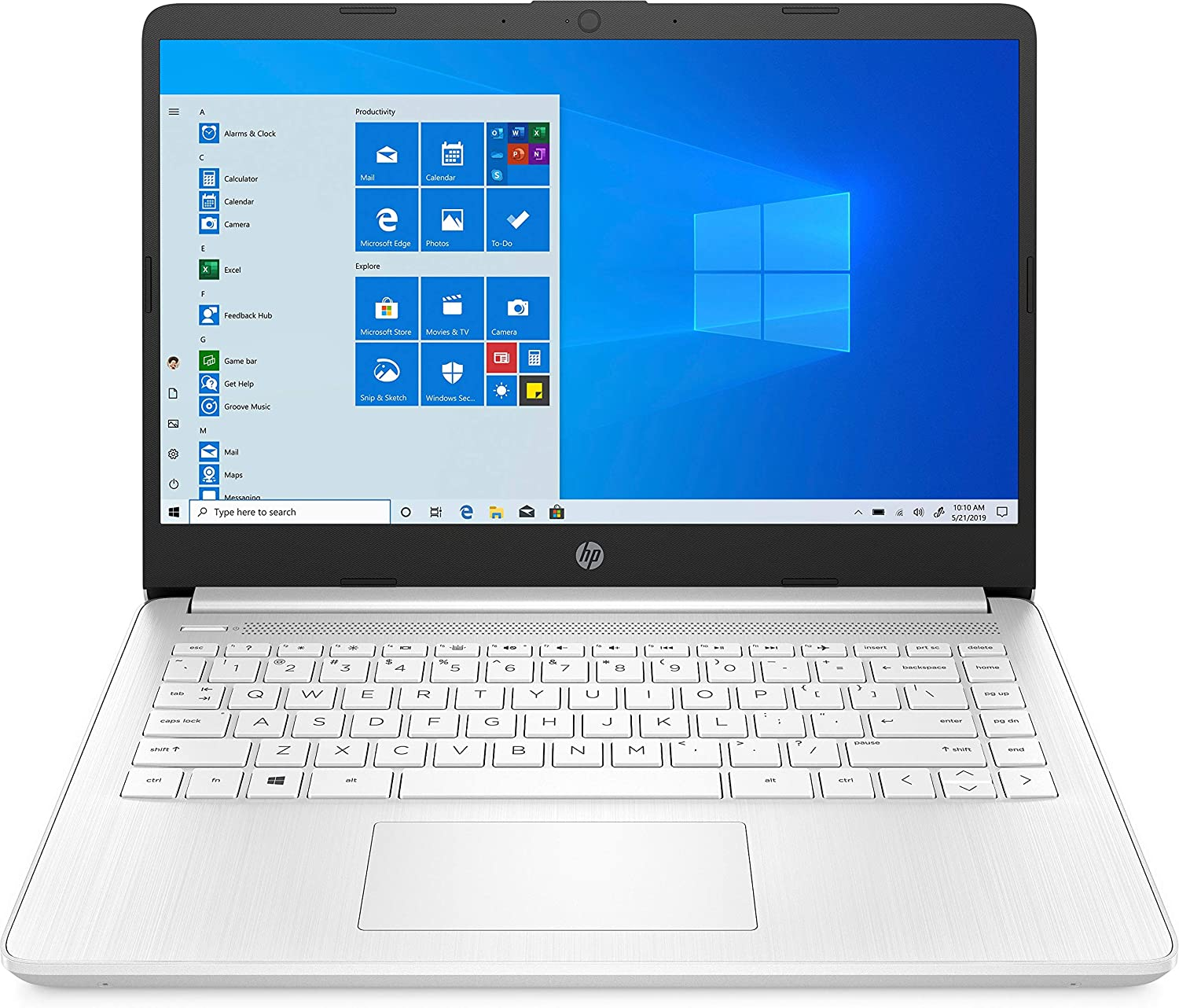 "HP 14 Series 14"" Laptop AMD Athlon 3020e 4GB RAM 64GB eMMc Snowflake White - AMD Athlon 3020e Dual-core - AMD Radeon Graphics - HP TrueVision 720p HD Camera - Windows 10 Home in S Mode - 10 hr ba"