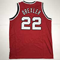 Unsigned Clyde Drexler Portland Red Custom Stitched Basketball Jersey Size Men's XL New No Brands/Logos photo