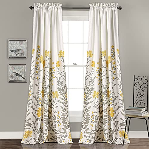 Lush Decor Aprile Room Darkening Window Curtain Panel Pair