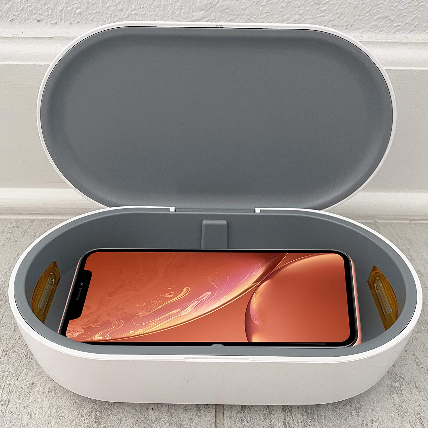 UV Phone Sanitizer and Charger by Johns Avenue. Fits Phones, Credit Cards, Keys, Cash. UV Sanitizer Box Can Be Used in Car On The Way Home - Same Day Quick 2 Day Shipping.