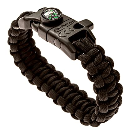Amazon Com Tacpilot Paracord Survival Bracelet Emergency 550
