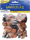 "Party Perfect Football Mini Whistle Favours, Plastic, 2"" x 1"", Pack of 12"