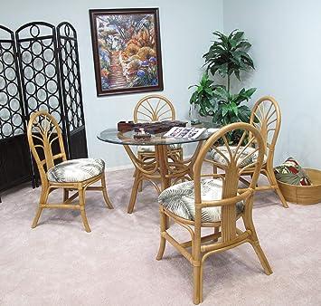 Amazon.com - kingrattan.com Rattan Dining Room Furniture 5 ...