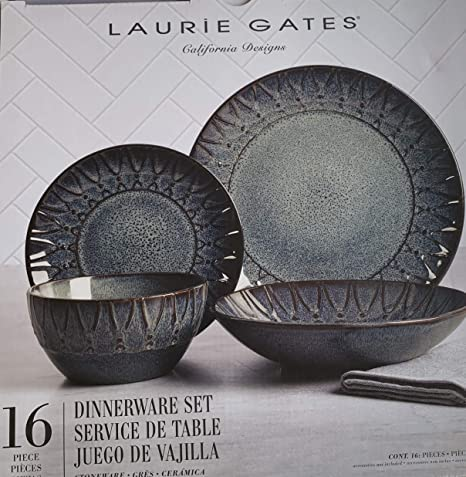 Amazon.com: Laurie Gates Valencia - Vajilla (16 piezas, para ...