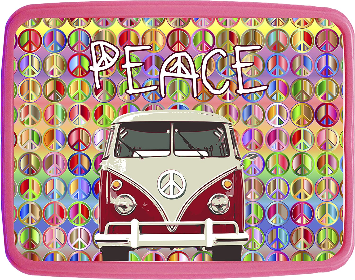 Peace Pink Girls Preschool Toddler Backpack /& Lunch Box Set