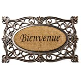 "Abbott Collection Coir & Rubber ""Bienvenue"" Doormat"
