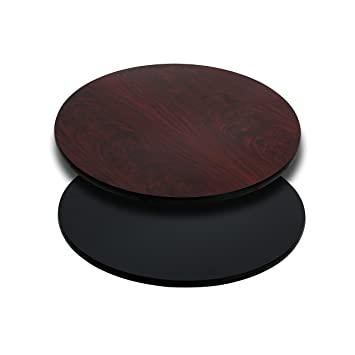 Amazon com Flash Furniture 24 Round Table Top with Black or