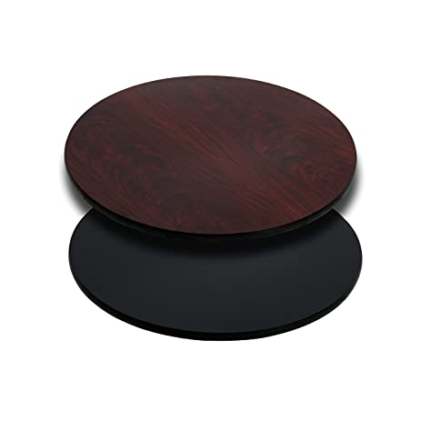 round table top. Flash Furniture 24\u0027\u0027 Round Table Top With Black Or Mahogany Reversible Laminate