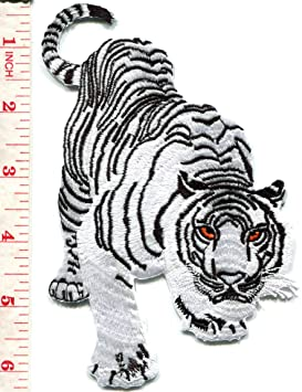 Bengale Tigre Blanc Tatouage Brodee Applique Patch Thermocollant Big