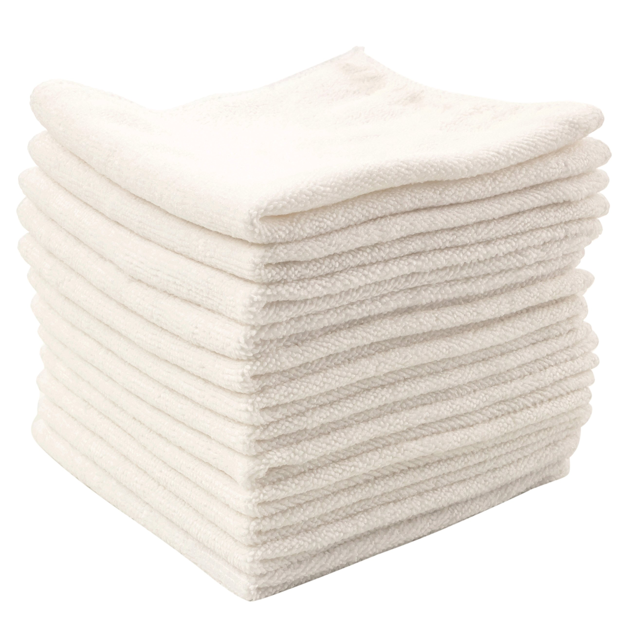 Dry Rite's Best Magic Microfiber Cloth - Professional Series Cleaning Towels for Fine Auto Finishes, Interior, Chrome, Kitchen, Bath, TV, Glass- Non Scratching, Streak Free, Use Wet or Dry - 12'' x 12''