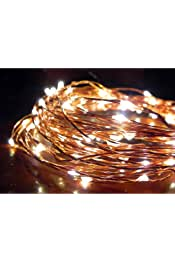 Norsis Fairy Lights - Flexible Copper Wire Starry String Lights - 100 Miniature LED Lights, Extra Long Wire - Warm White Light - Indoor/Outdoor - Interior Decor, Halloween, Wedding, and Christmas