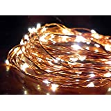 Norsis Fairy Lights - Flexible Copper Wire Starry String Lights - 100 Miniature LED Lights, Extra Long Wire - Warm White Light - Indoor/Outdoor - Interior Decor, Garden, Christmas, Craft and DIY