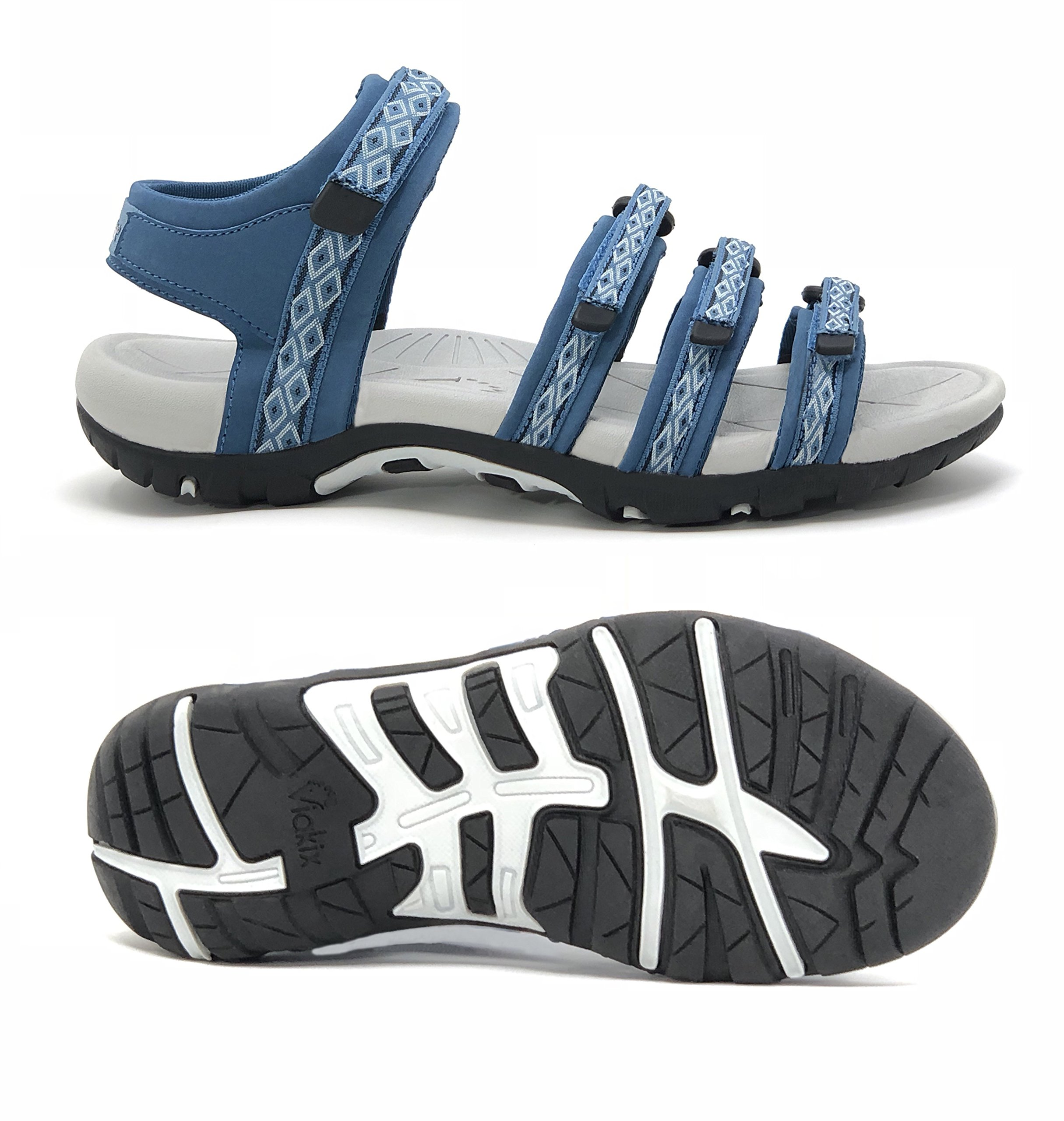 Viakix Hiking Sandals Women – Comfortable Athletic Stylish Hiking, Outdoors, Walking, Beach, Water, Sports