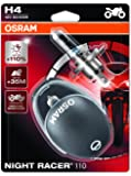 OSRAM 64193NR1-02B Night Racer 110 H4 Projecteur de Moto, 12V, Blister Double