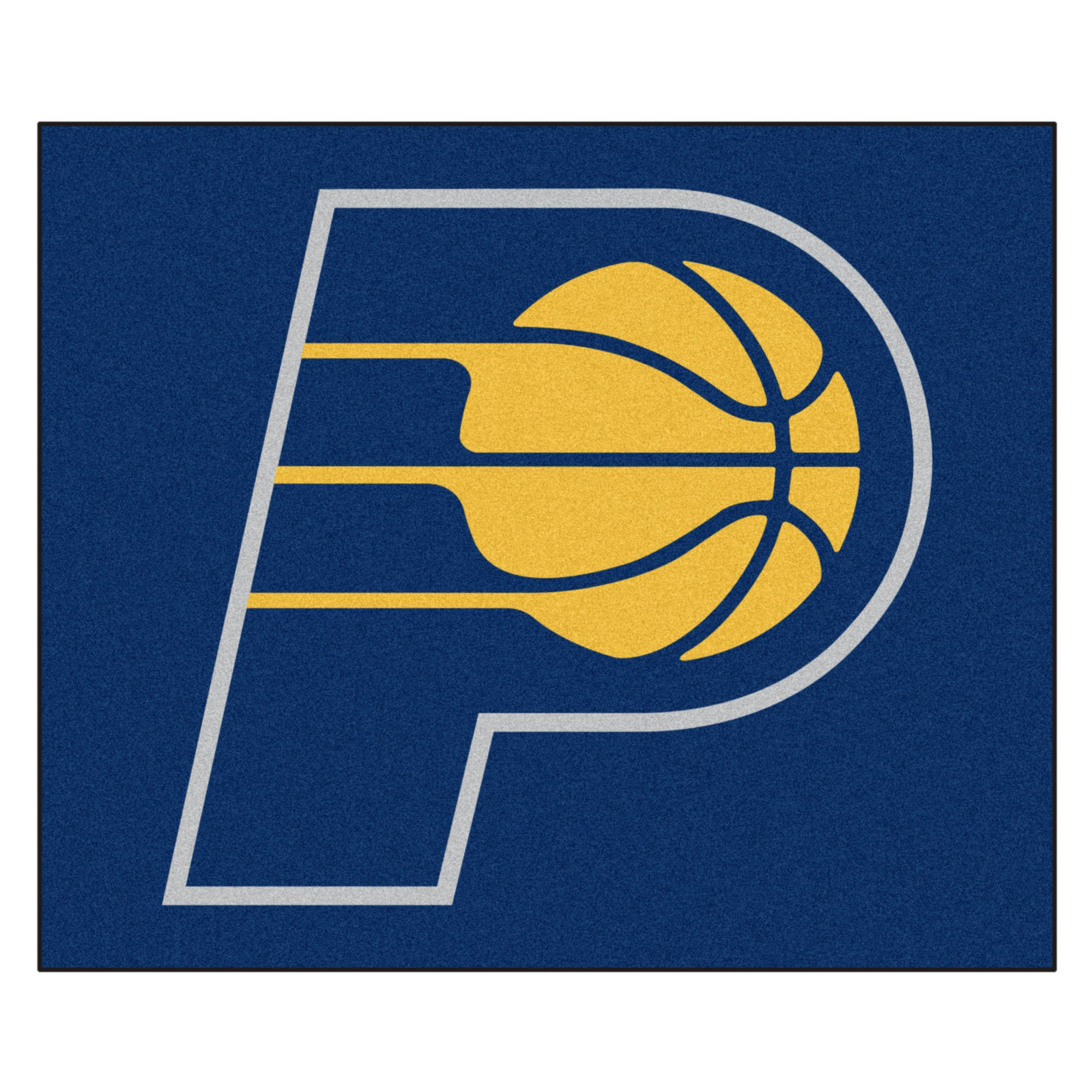 FANMATS 19445 NBA - Indiana Pacers Tailgater Rug , Team Color, 59.5''x71''