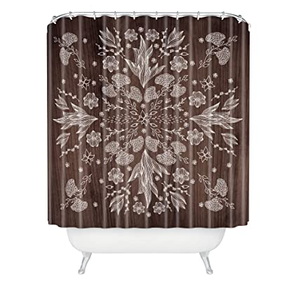 Deny Designs Iveta Abolina White Floral Shower Curtain 69quot