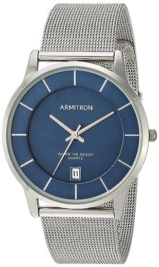 Amazon.com: Armitron Mens Date Function Dial Silver-Tone Mesh Bracelet Watch: Watches