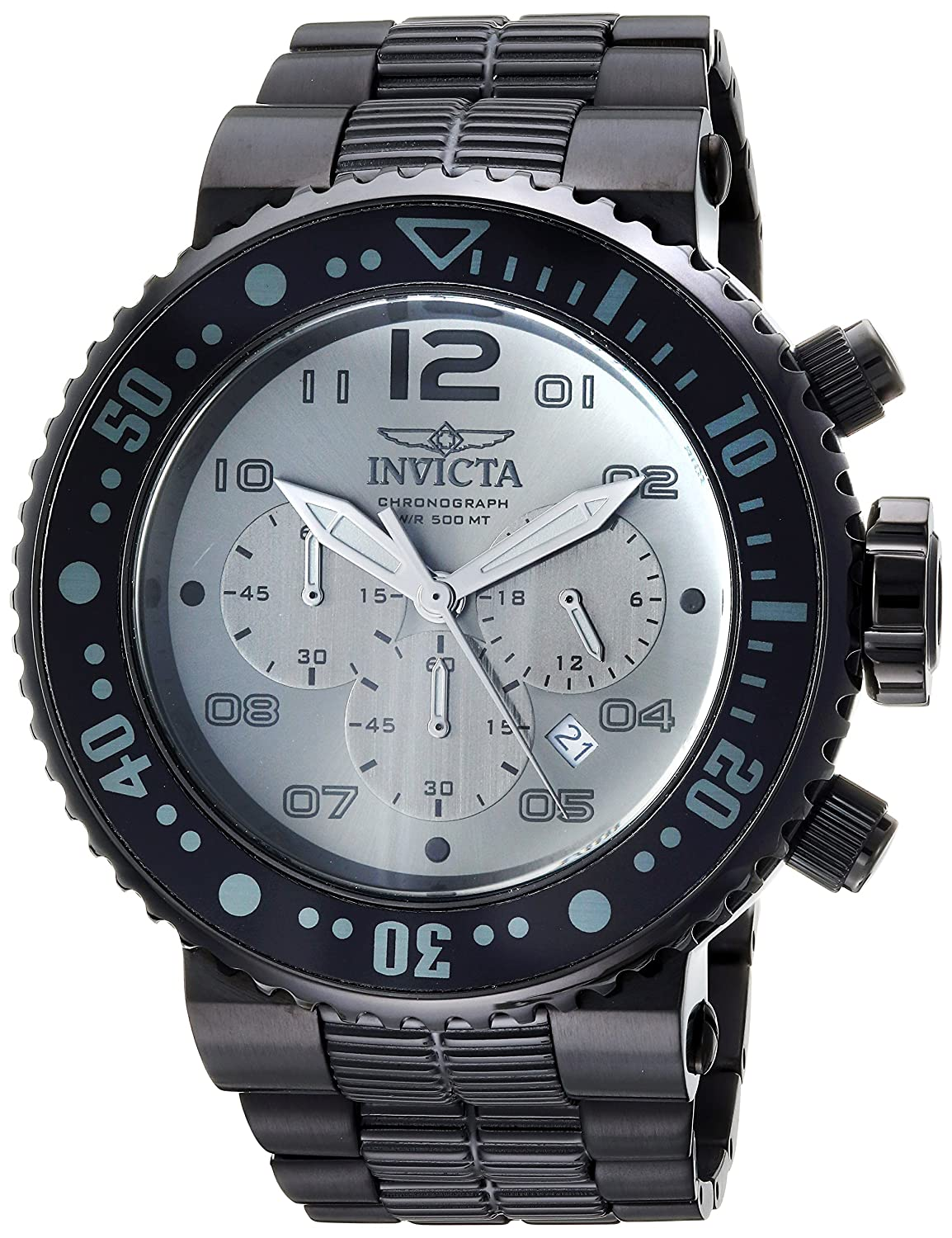 Invicta Men s Pro Diver Quartz Diving Watch with Stainless-Steel Strap, Black, 29.3 Model 25079