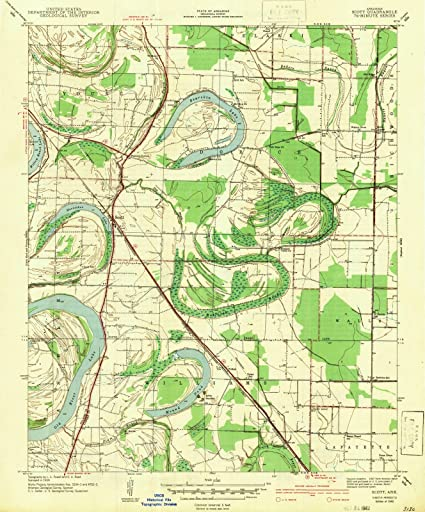 Amazon.com: Arkansas Maps | 1942 Scott, AR USGS Historical ...