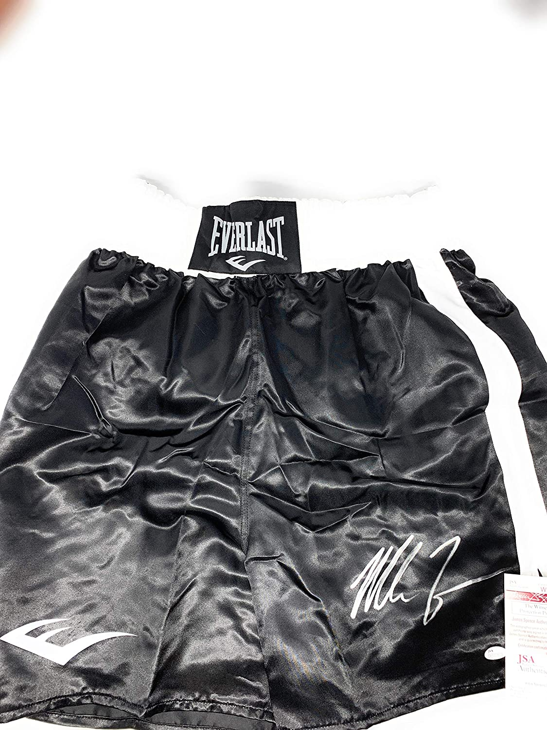 Mike Tyson Signed Autograph Boxing Trunks JSA Witnessed Certified