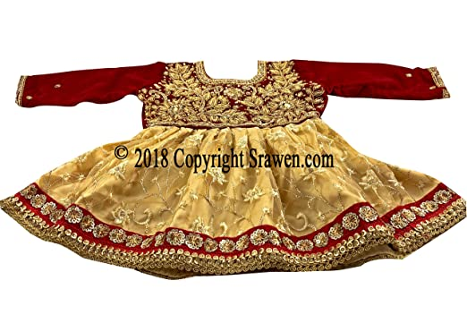 fd3ebe78f4c6 Image Unavailable. Image not available for. Color: Srawen Nepali Weaning  Ceremony/Pasni Dress/Rice Feeding Outfits for Baby Girl/Nepalese