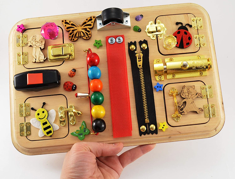Montessori pour... Sensory Toys Pour les tout-petits Romote Toddlers occupé à bord