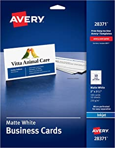 Avery Ink-Jet Printer White Business Cards (28371)