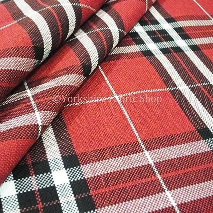 Diseño de Tejido Escocés como rojo para tapicería chenilla ...