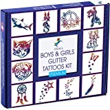 INGALA PREMIUM Glitter Tattoo Kit for Boys and Girls | Unique Professional Glitter Tattoos for Kids and Adults | 74…