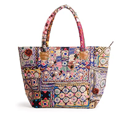 ab0e41aed5 Image Unavailable. Banjara Boho Vintage Bag Ethnic Tribal Tote Bag Afghani  Embroidered Gypsy Indian ...