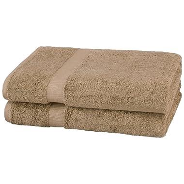 Pinzon Organic Cotton Bath Sheet (2 Pack), Latte