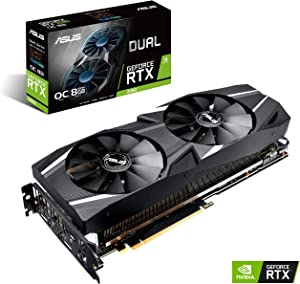 ASUS GeForce RTX 2080 O8G Dual-fan OC Edition GDDR6 HDMI DP 1.4 USB Type-C graphics card (DUAL-RTX2080-O8G )