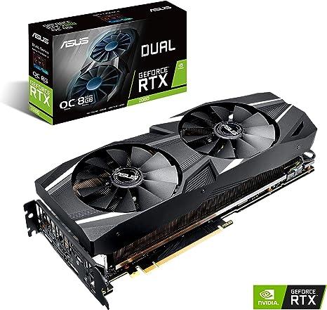 ASUS GeForce RTX 2080 O8G Dual-fan OC Edition GDDR6 HDMI DP 1.4 USB Type-C graphics card (DUAL-RTX2080-O8G)