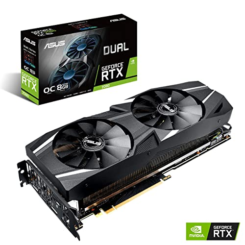 ASUS GeForce RTX 2080 O8G Dual-fan OC Edition Type-C Graphics Card