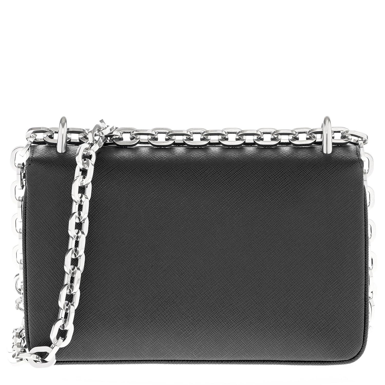 Amazon.com  Prada Women s Chain Shoulder Saffiano Bag Black  Clothing