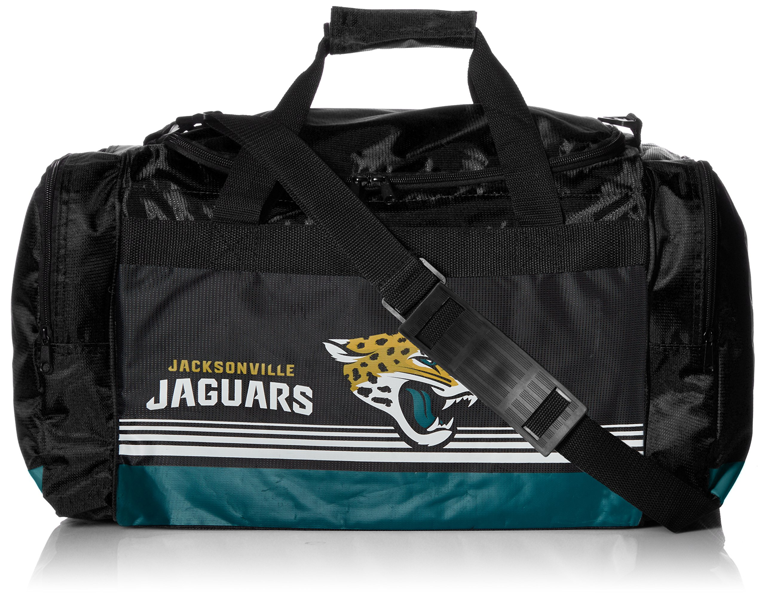 FOCO Jacksonville Jaguars Medium Striped Core Duffle Bag by FOCO