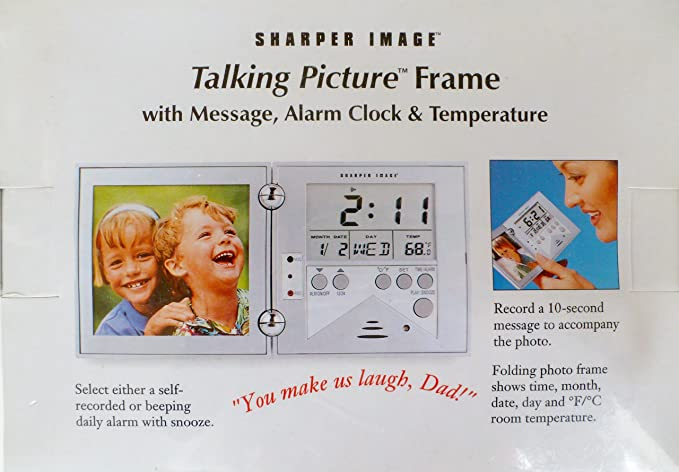 Amazon Talking Picture Frame With Message Alarm Clock