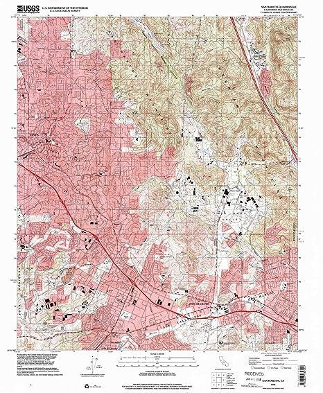 Amazon Com Yellowmaps San Marcos Ca Topo Map 1 24000 Scale 7 5 X