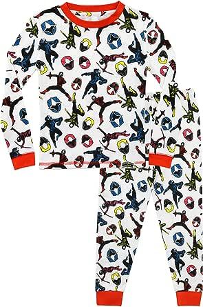 Power Ranger Pijamas para Niños Ajuste Ceñido Ninja Steel