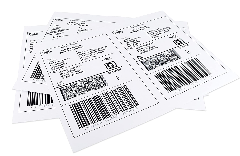 "Economy Laser Printer 600 Half Sheet Shipping Labels 8.5 X 5.5/"""