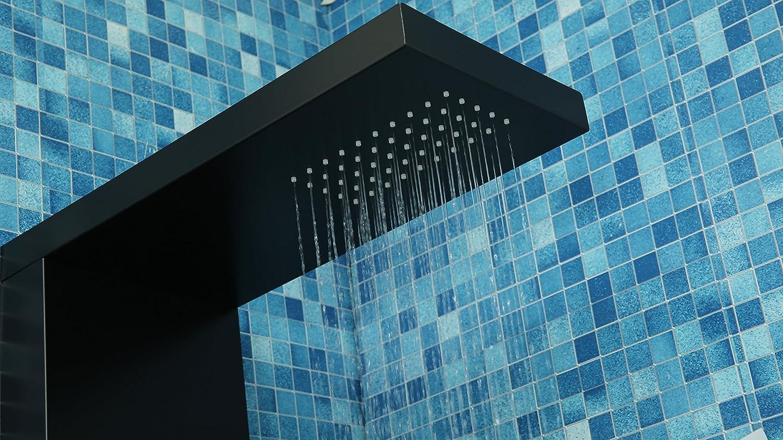 DP Grifería Bahamas - Columna de hidromasaje en aluminio, Negro: Amazon.es: Bricolaje y herramientas