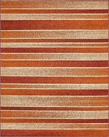 Amazon Com Modern Area Rug Rust Red 8 X 10 Feet Giza
