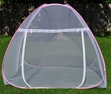 Amazon.com  C&ing mosquito netting tent POPUP open insect shield canopy see through and travel fit over cots or sleeping bags-47 (W)X76 (L)X56 (tip H) ... & Amazon.com : Camping mosquito netting tent POPUP open insect ...