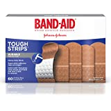 Band-Aid Brand Tough-Strips Adhesive Bandage for Minor Cuts & Scrapes, All One Size, 60 ct