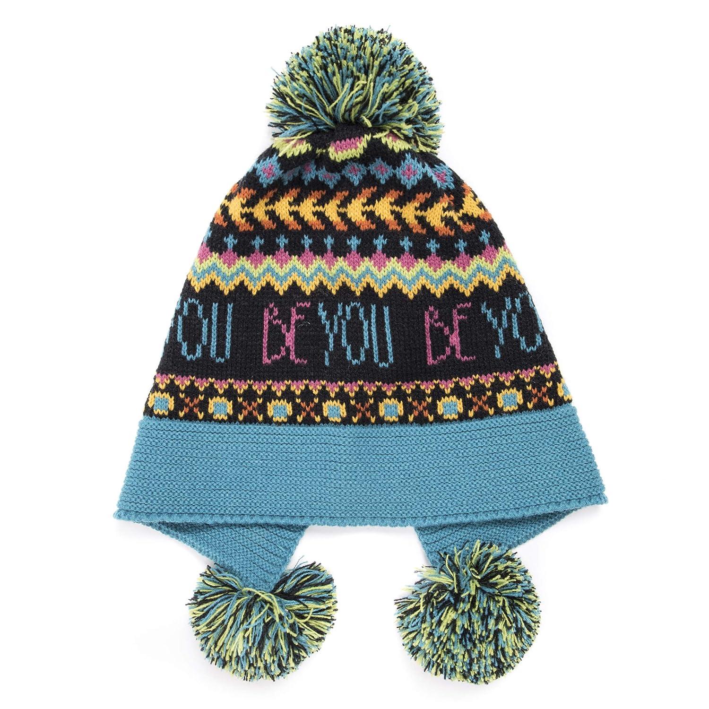 MUK LUKS Womens Pom Hat Alice Blue OSFM 0034546450-OS